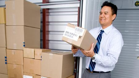 a picture of a human using business storage over at Halifax Storage UK